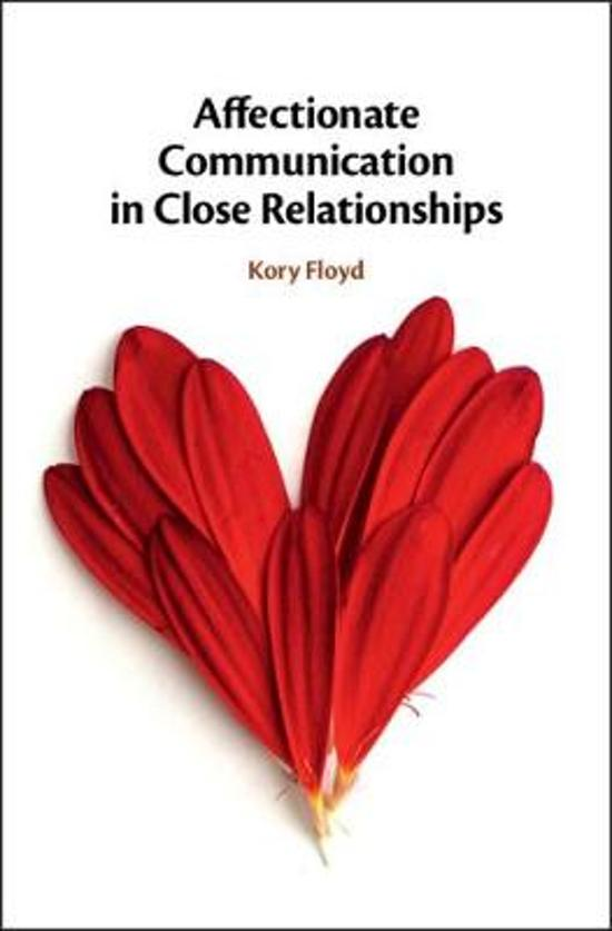 Affectionate Communication in Close Relationships