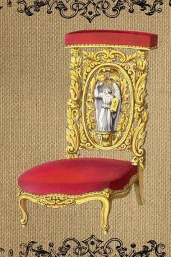 Bol Com Antique Gold And Red Vintage Chair On Burlap Illustration