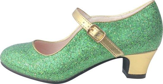 aaeb996c8b4 Anna Prinsessen schoenen groen goud, Spaanse schoenen - maat 37 (binnenmaat  23,5