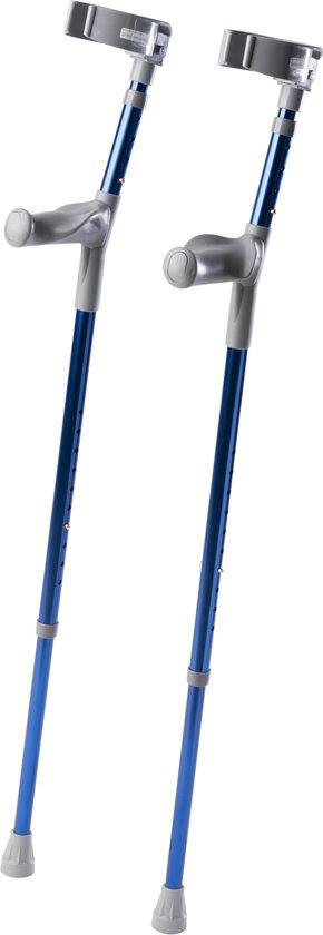 Set loopkrukken / elleboogkrukken Comfort - blauw