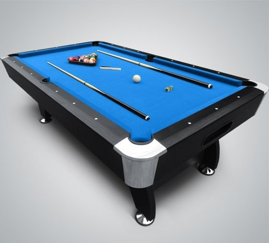 Buckshot Blackmagic Pooltafel 8ft Ball Return - Blauw