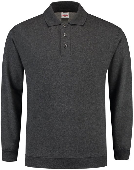 Tricorp Polosweater boord - Casual - 301005 - Antracietgrijs - maat XXL