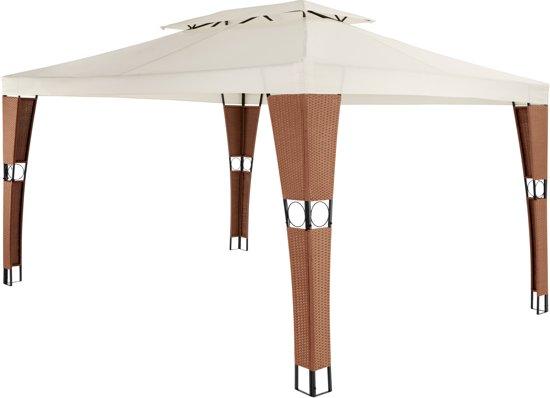Verwonderlijk bol.com | TecTake - luxe tuinpaviljoen / prieel 3x4 meter bruin MH-61