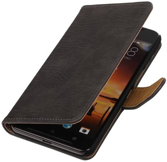Wicked Narwal | Bark bookstyle / book case/ wallet case Hoes voor HTC One X9 Grijs