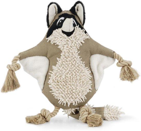 Beeztees Nuddles Wasbeer - Hondenspeelgoed - Textiel - 32 cm