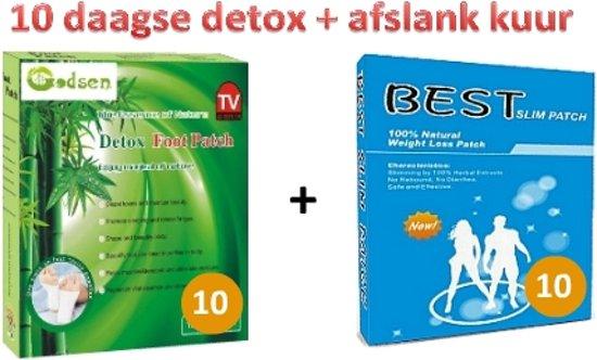 Afslank & detox combiset 20 stuks - ontgiften, Lichaamsreiniging Detox | afslankpleisters voor gewichtsverlies | vetverbranding | afvallen buik benen billen