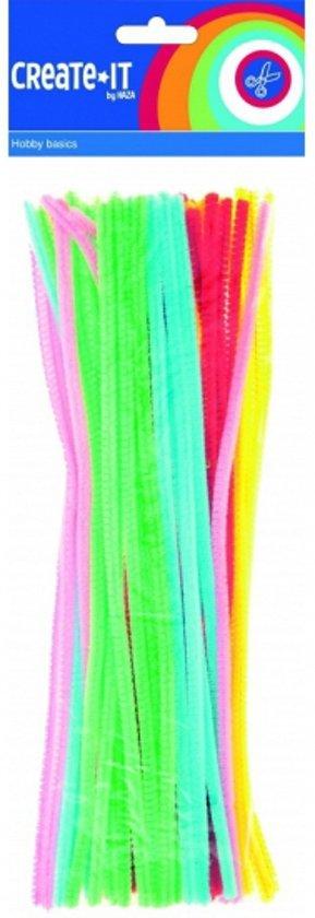 Chenilledraad/ pijpenragers fluorescerend 30 cm 50 st