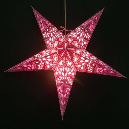 morethanhip papieren kerstster amisha roze incl verlichtingsset