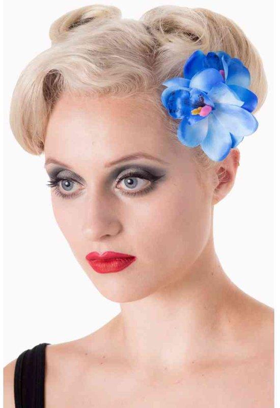 971c57ea8bae26 Blossom haarclip accessoire bloem blauw - One Size - Dancing Days
