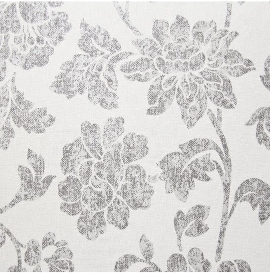 Dutch Wallcoverings vliesbehang bloem - grijs/wit