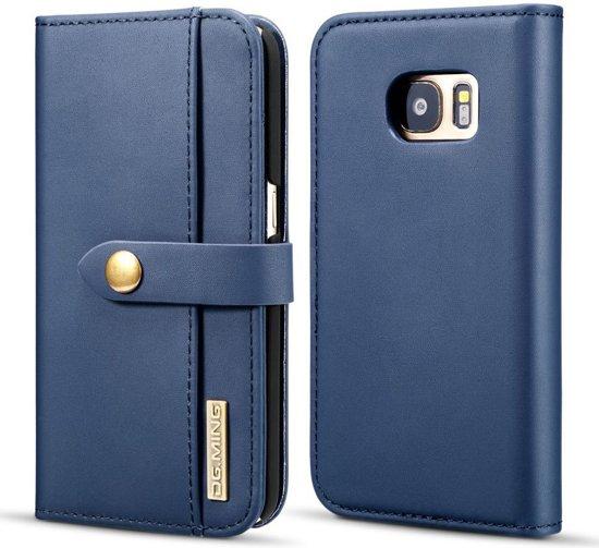 Samsung Galaxy S7 Leren 2-in-1 Bookcase en Back Cover Hoesje Blauw