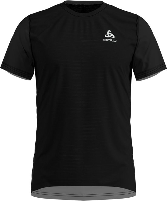Odlo Bl Top Crew Neck S/S Ceramicool Sportshirt Heren - Black
