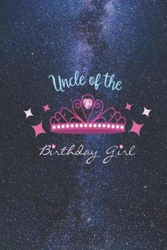 Uncle of the Birthday Girl - Princess Crown Heart Diamond Journal
