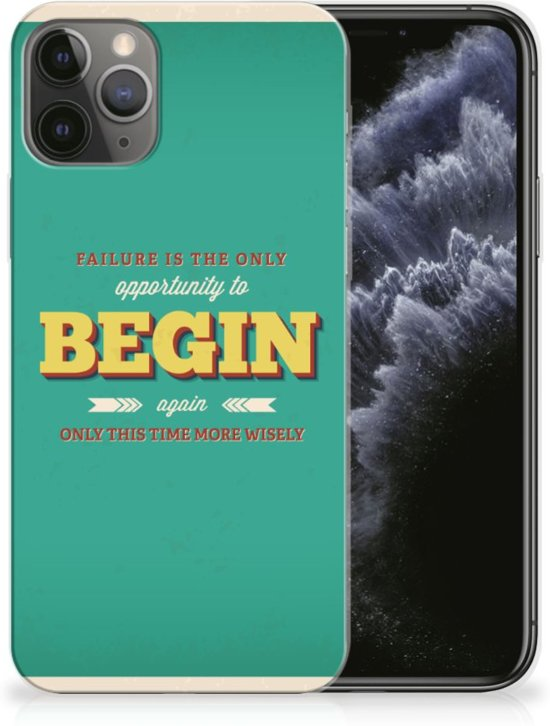 iPhone 11 Pro Siliconen hoesje met naam Quote Begin