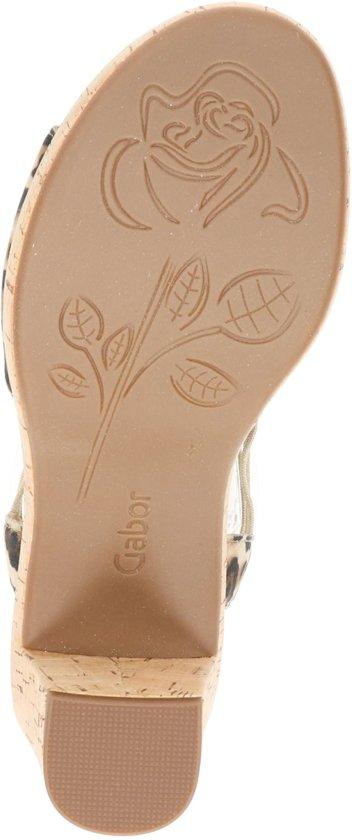 Gabor Dames Sandaal - Beige Multi