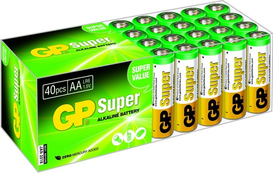 GP Super Alkaline AA Mignon penlite, multipack 40