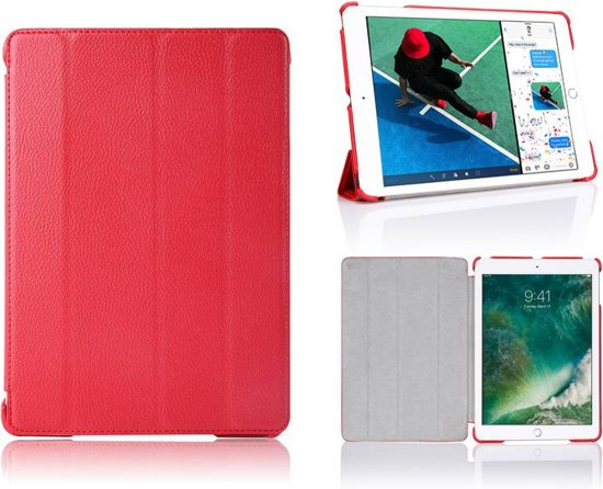 iParts4u iPad Pro Hoes 10.5 inch Smart Case Leder Rood in Klooster Lidlum / Kleaster-Lidlum