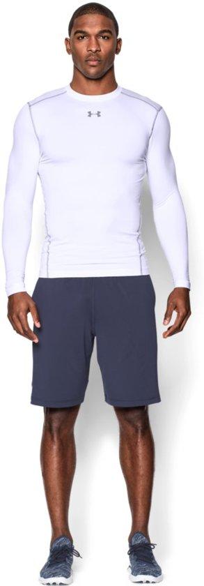 Under Armour UA CG ARMOUR CREW Sportshirt  - Heren - Maat XL - Wit