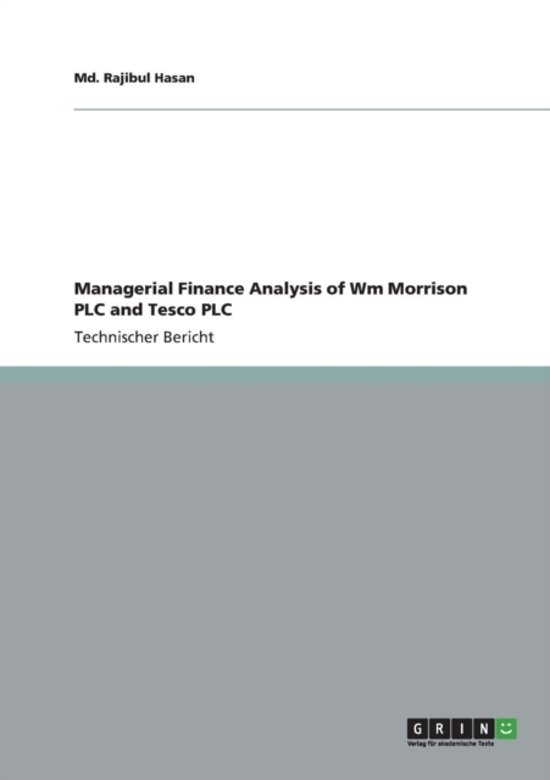 financial analysis for morrison