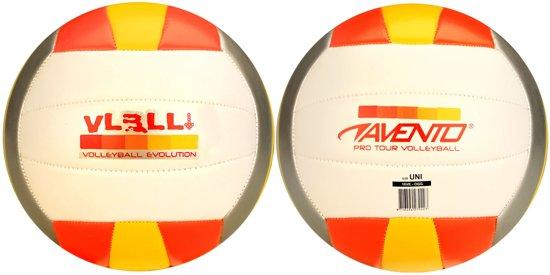 Avento Volleybal - PVC Leder - Oranje/Geel/Grijs