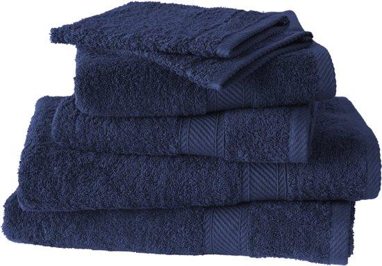 De Witte Lietaer Hélène - Washandjes, badhanddoeken & douchelakens - Medieval Blue - Set van 6