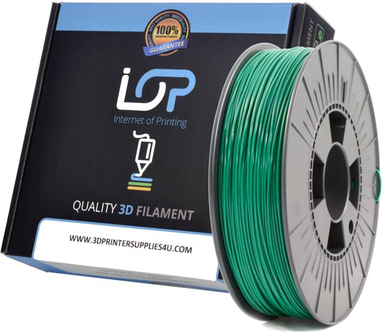 IOP PLA GLITTER METALLIC RACE GREEN 175mm 500gr