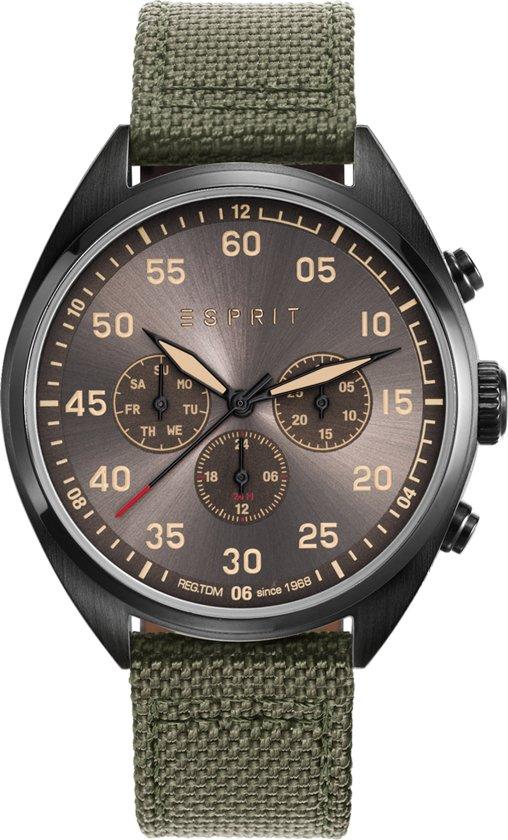   Esprit ES108791003 Horloge Leren band Groen