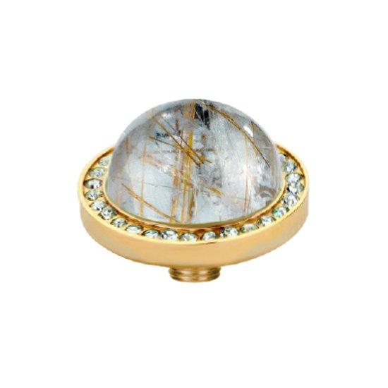 Melano vivid white cz zetting - dames - goudkleurig - rut. quartz gold - 7 mm