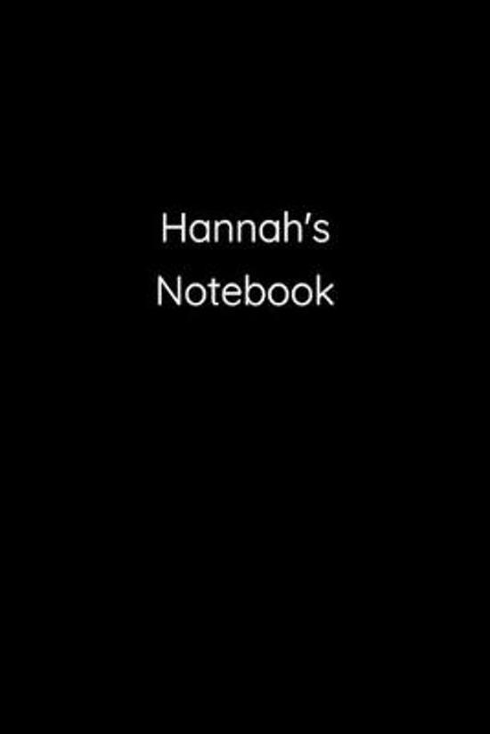 Hannah's Notebook: Notebook / Journal / Diary - 6 x 9 inches (15,24 x 22,86 cm), 150 pages.