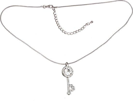 scarlet bijoux   halsketting slangenketting met hanger en sleutelhanger strass in verschillende kleuren, ca. 19x11 cm. Kristal