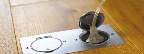 LEGRAND vloer/wand stopcontact - dubbel - IP44 - slagvast - RVS