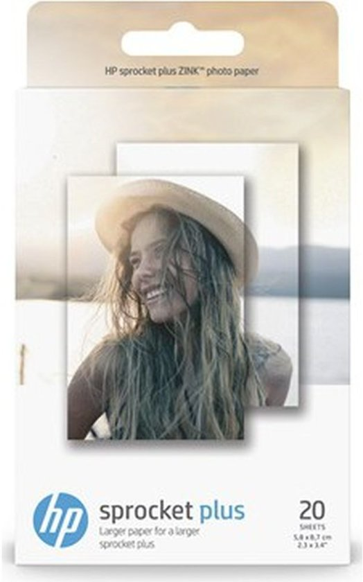 HP ZINK - Sprocket PLUS - zelfklevend Fotopapier - 20 stuks