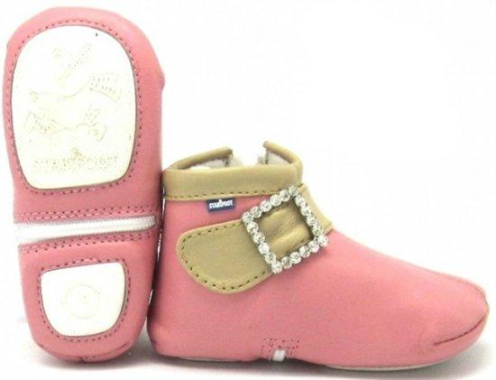 Stabifoot Babylove babyslofjes roze band glitter