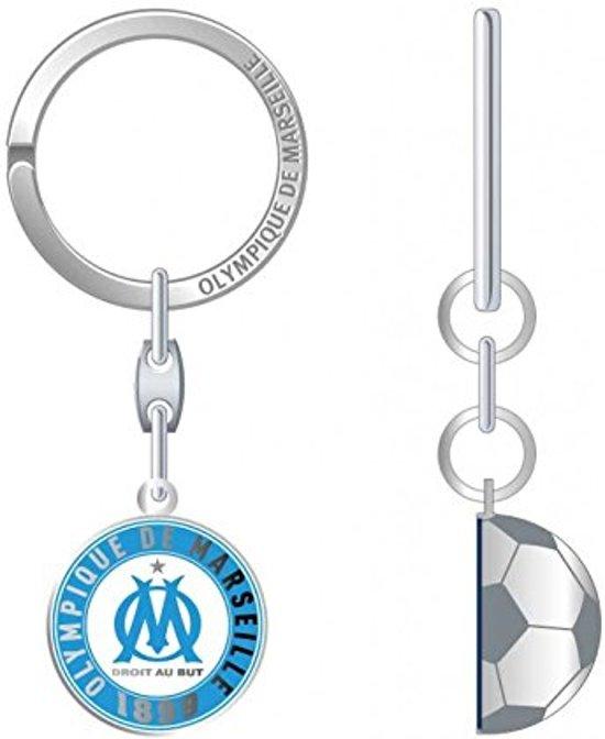 Olympique Marseille Sleutelhanger halve voetbal metaal OM