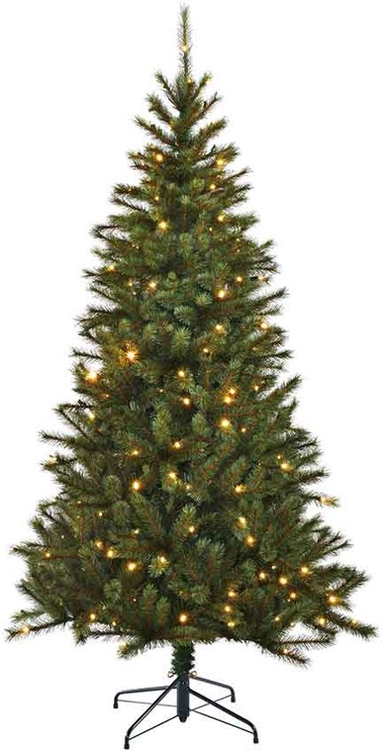 Black Box Smalle Kunstkerstboom 155 cm - met verlichting - 345 takken - 120 LED's - Groen