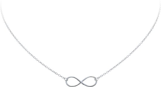 Lovenotes ketting - zilver - infinity - 40 + 3 cm
