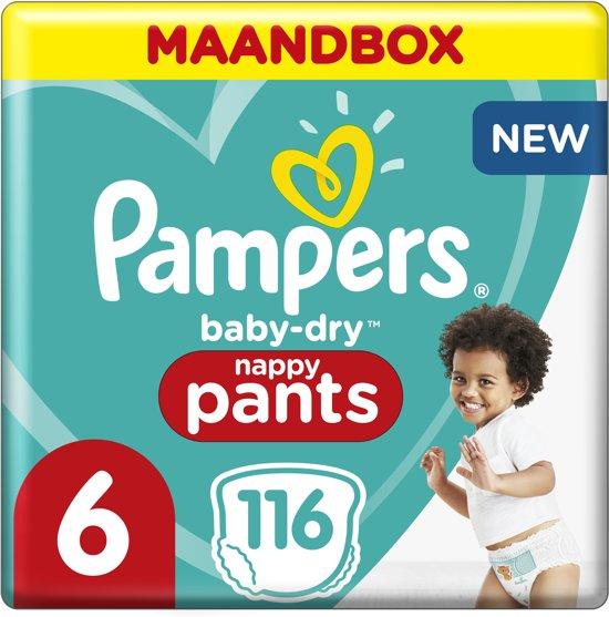 Pampers Baby-Dry Pants Luierbroekjes- Maat 6 (+15 kg) - 116 Stuks - Maandbox