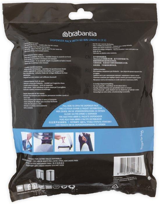 Brabantia Perfectfit Code V - 3 Liter (60 stuks)