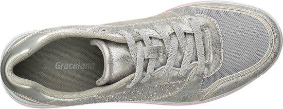 | Graceland Dames Zilveren metallic sneaker