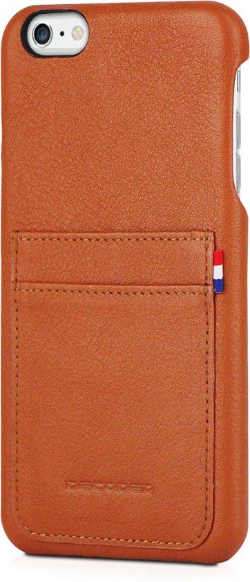 best sneakers 451ac de19b Decoded Back Cover - Premium Leren Hoesje voor iPhone 6s Plus / 6 Plus -  Bruin