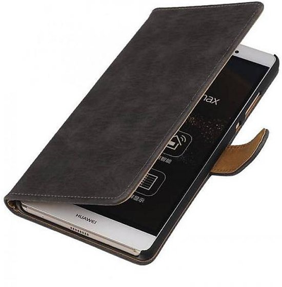bol   sony xperia z3 compact hoesje hout bookstyle grijs