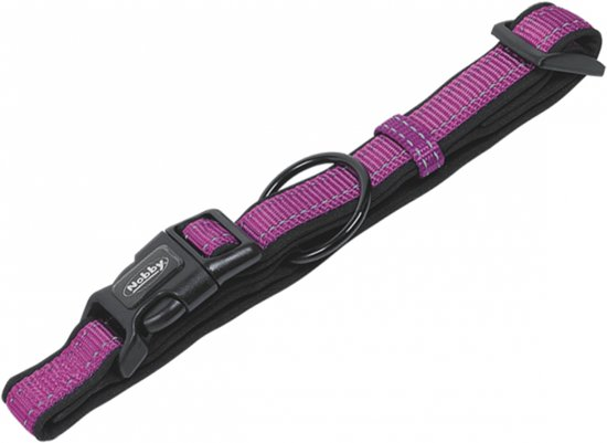 Nobby halsband classic reflect soft verstelbaar - paars - 25-35 x 1,5 cm