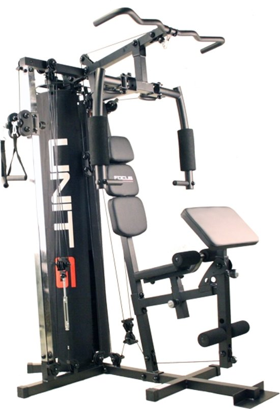 bol com focus fitness home gym krachtstation unit 6 zwartfocus fitness home gym krachtstation unit 6 zwart