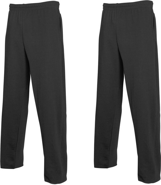 2-Pack Fruit of the Loom Joggingbroek (met rechte Pijp) Zwart Maat XL