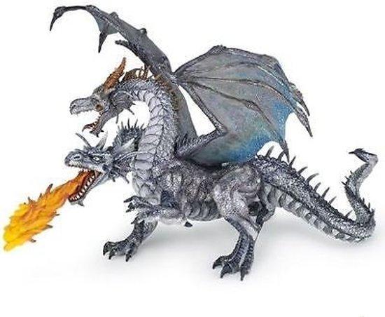 Papo - Tweekoppige draak - Zilver
