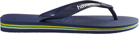 43 Logo Slippers Navy Brasil 44 blue Maat Havainas fgHwYx5qn