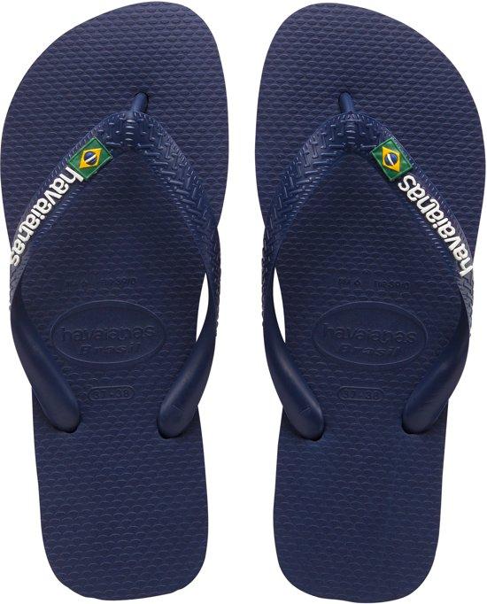 Havainas Slippers 43 44 blue Logo Maat Navy Brasil rHcW1Ewqr