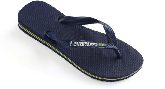 44 Brasil blue Maat Navy Slippers Havainas 43 Logo axPR0Wq1