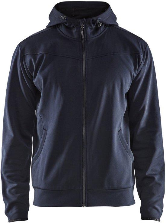 Blåkläder 3363-2526 Hoodie met rits Donker marineblauw/Zwart maat XS