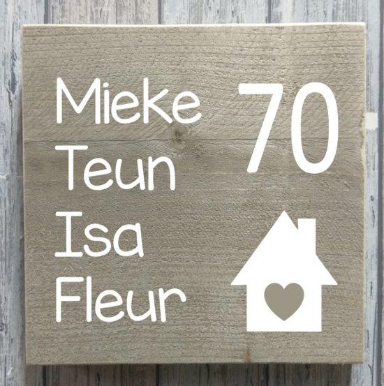Ongebruikt bol.com | Naambordje voordeur steigerhout | houten naambord 20x20 cm IL-92